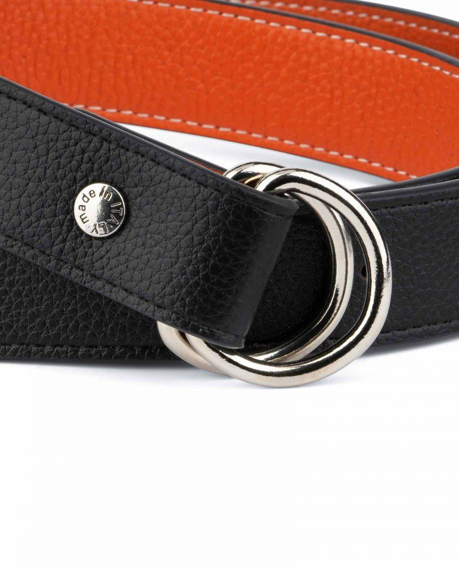 Orange Double Loop Belt 2