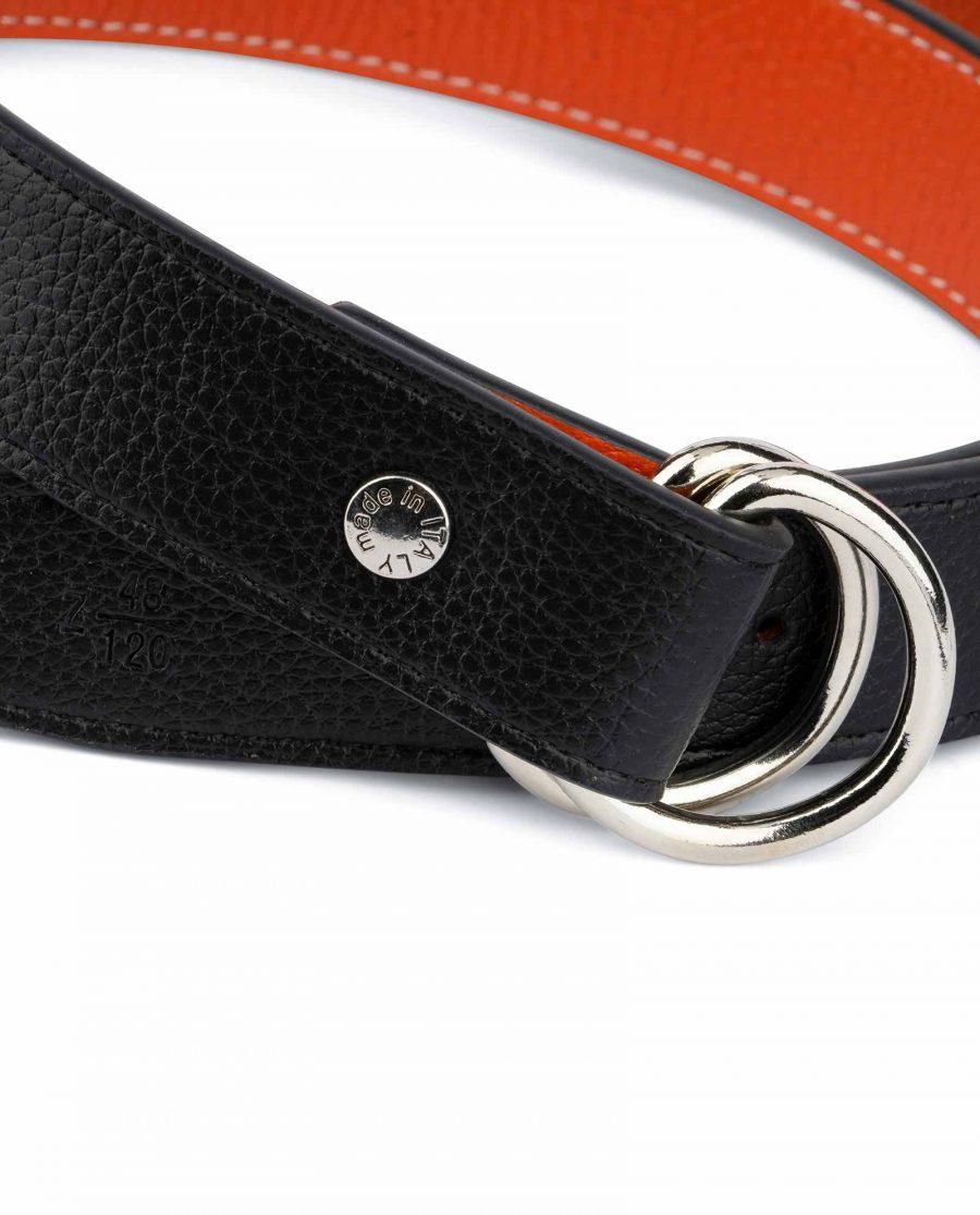 Orange Double Loop Belt 3