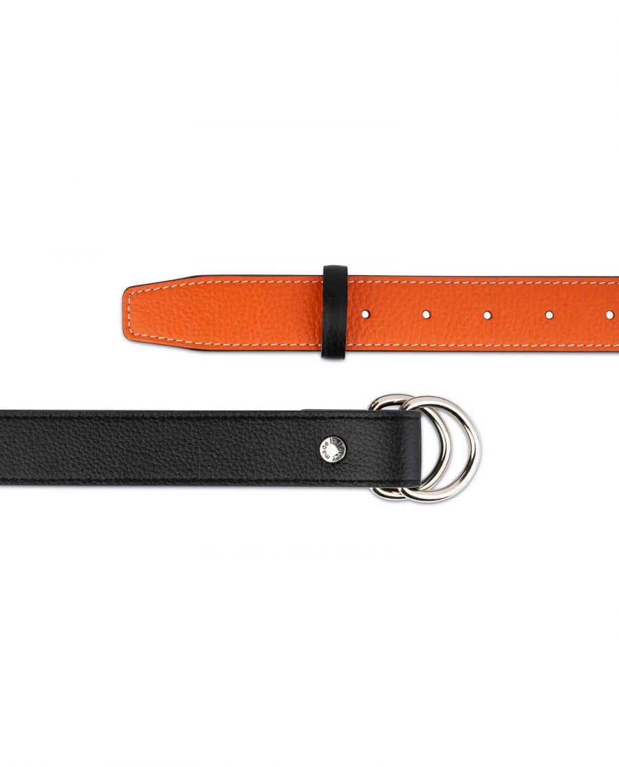Orange Double Loop Belt 4