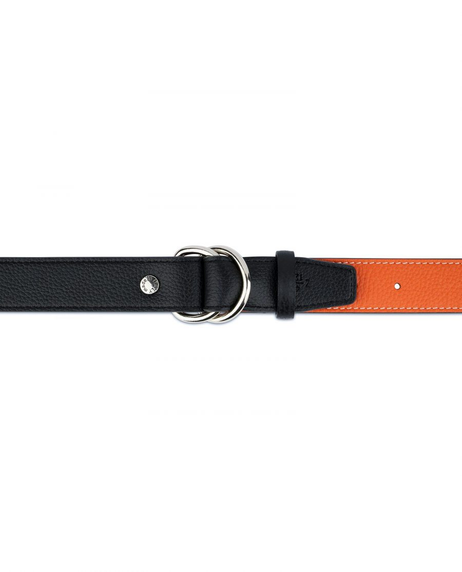 Orange Double Loop Belt 5