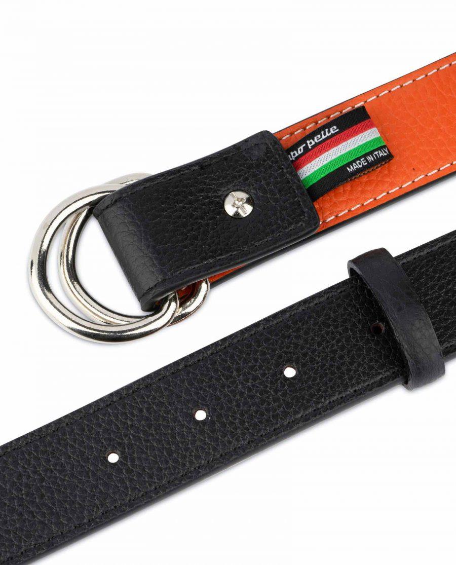 Orange Double Loop Belt 8