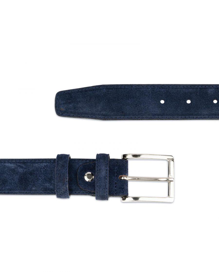 Dark Blue Suede Belt For Men 2
