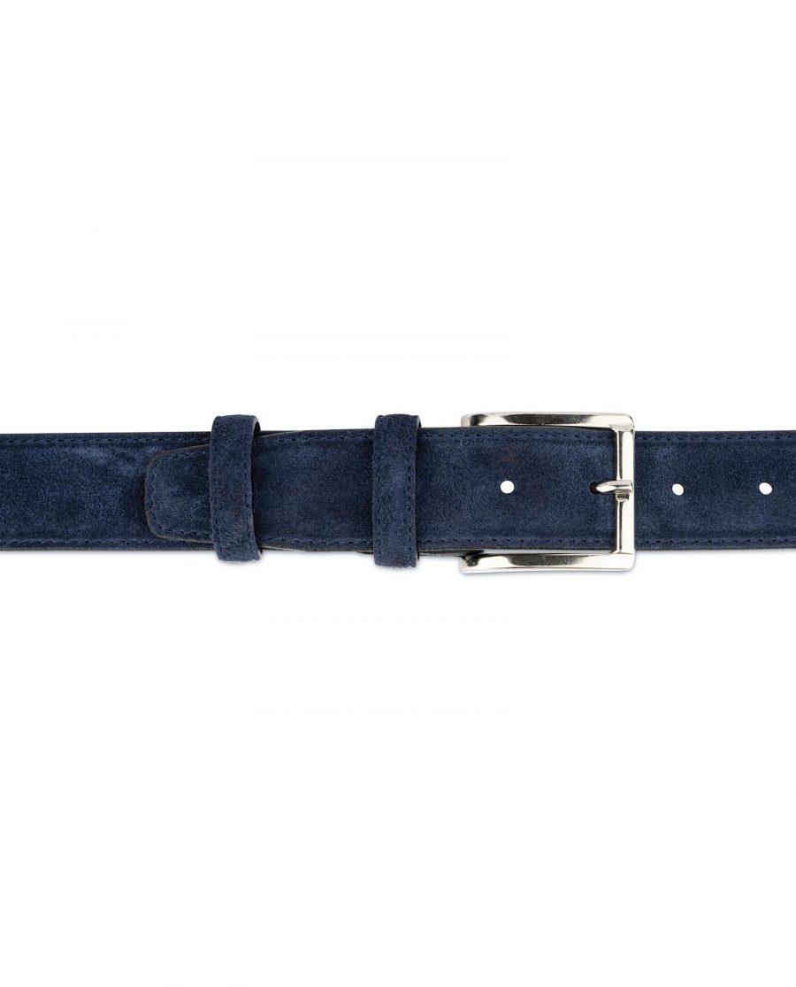 Dark Blue Suede Belt For Men 3