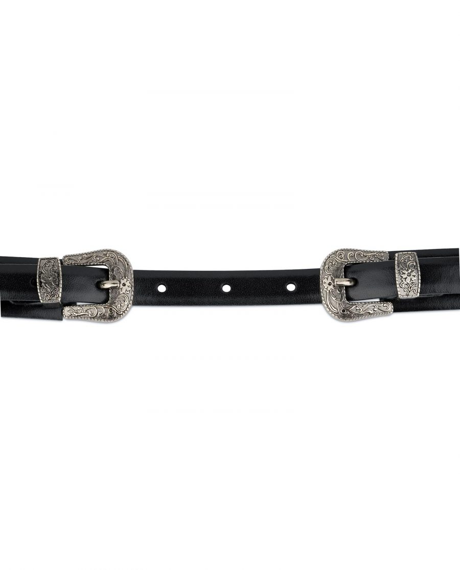 Womens Western belt With Double Buckle 4