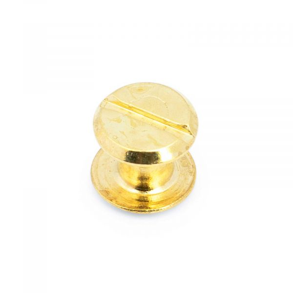 Belt Buckle Screws Brass Plated 1