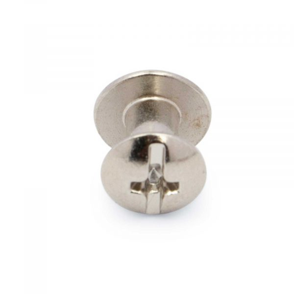 Belt Buckle Screws Silver Nickel 1