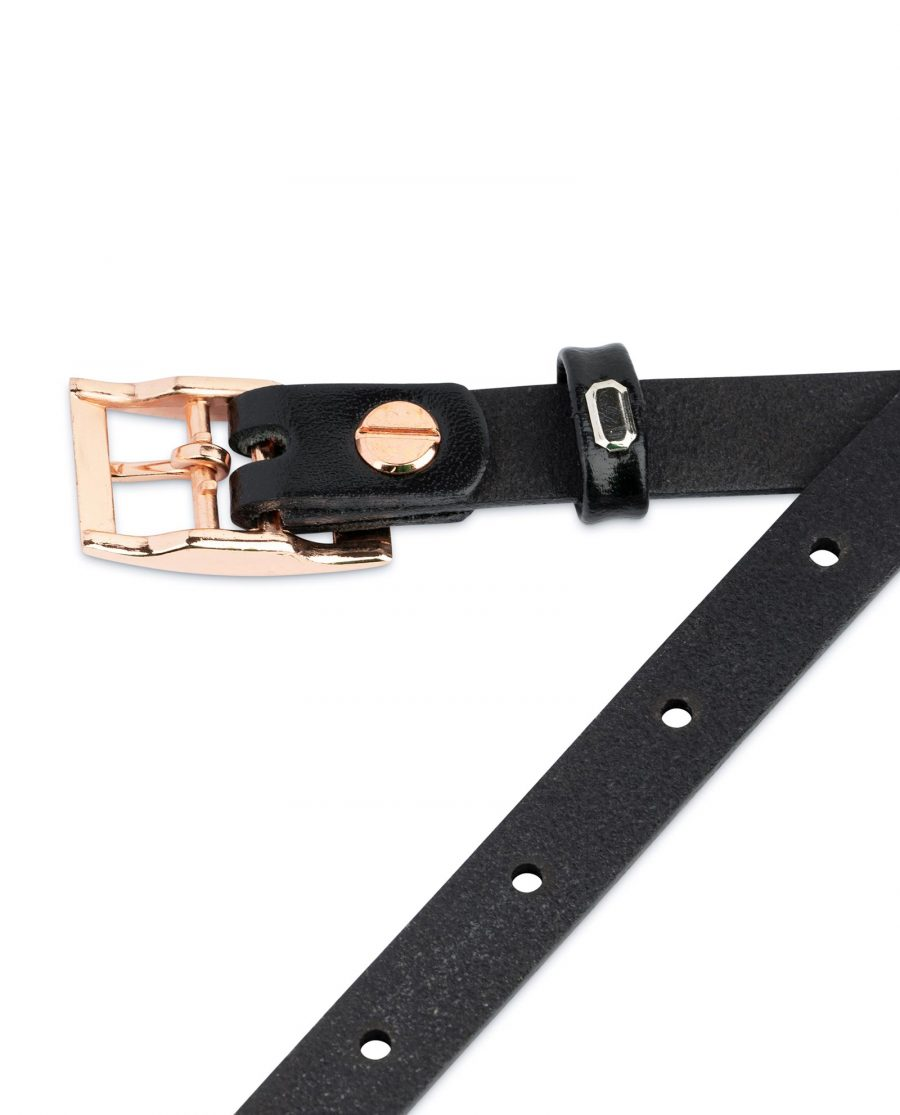 Belt With Rose Gold Buckle 15 mm 4
