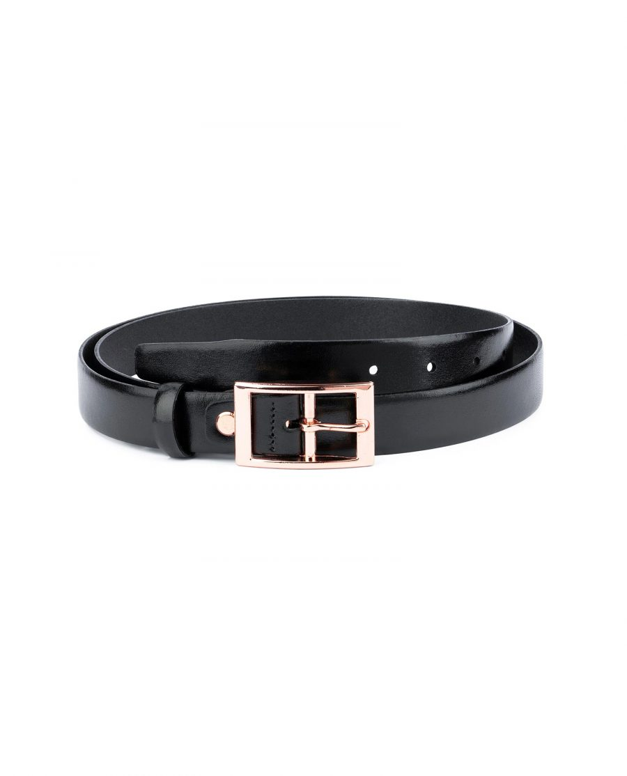 Belt With Rose Gold Buckle 25 mm 1