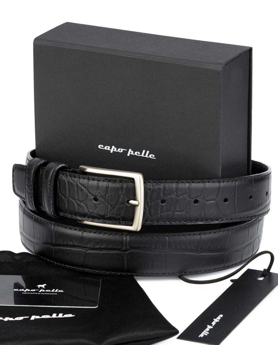 Birthday Gift For Boss Crocodile Embossed Belt