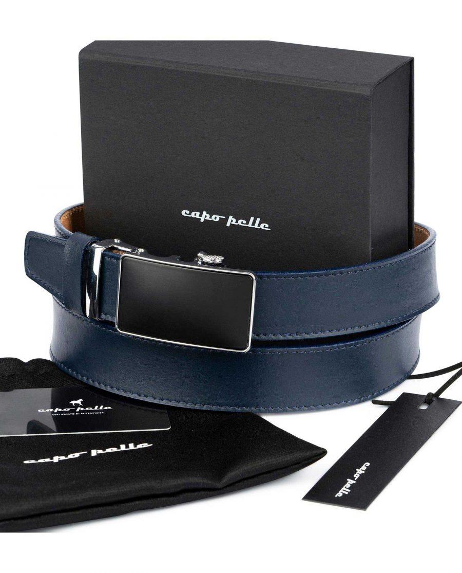 Birthday Gift For Boyfriend Blue Ratchet Belt