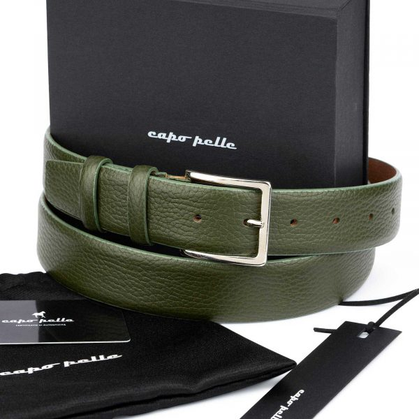Birthday Gifts For Men Olive Green Leather Belt
