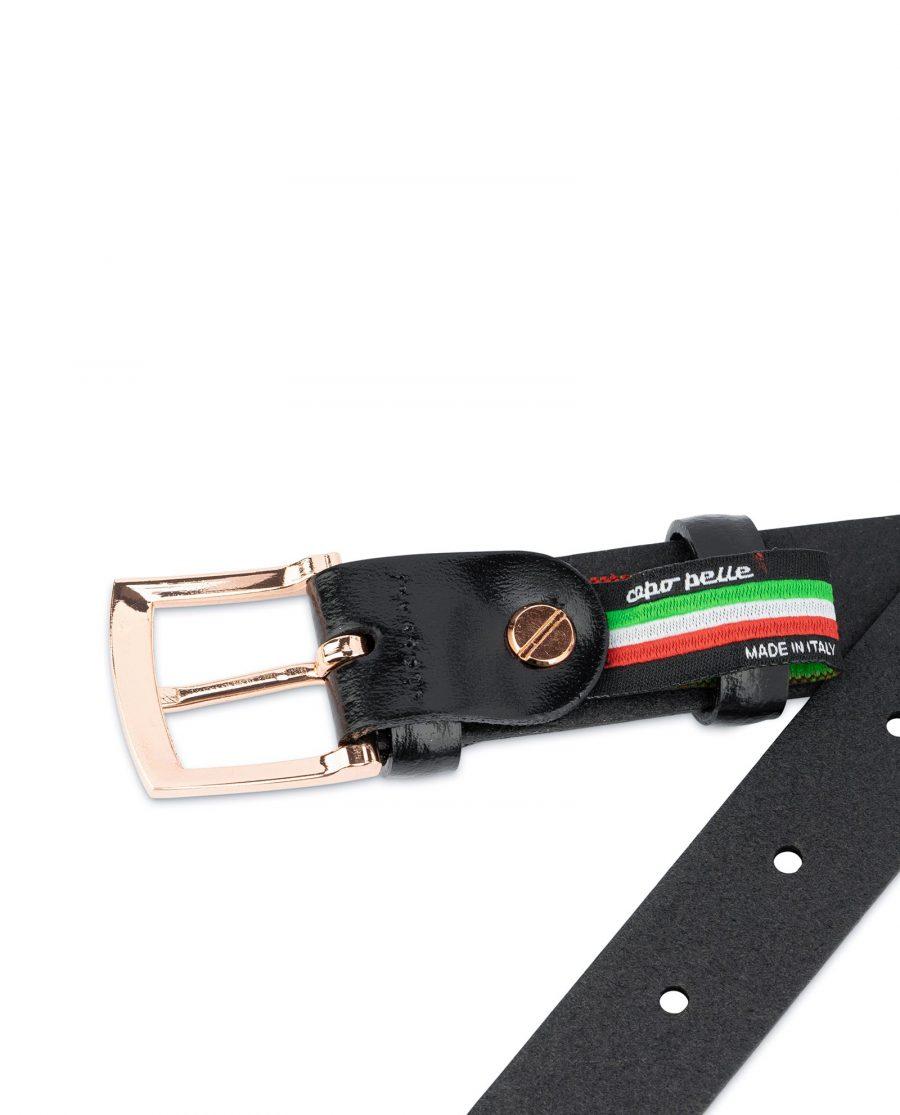 Black Belt With Rose Gold Buckle 25 mm 4