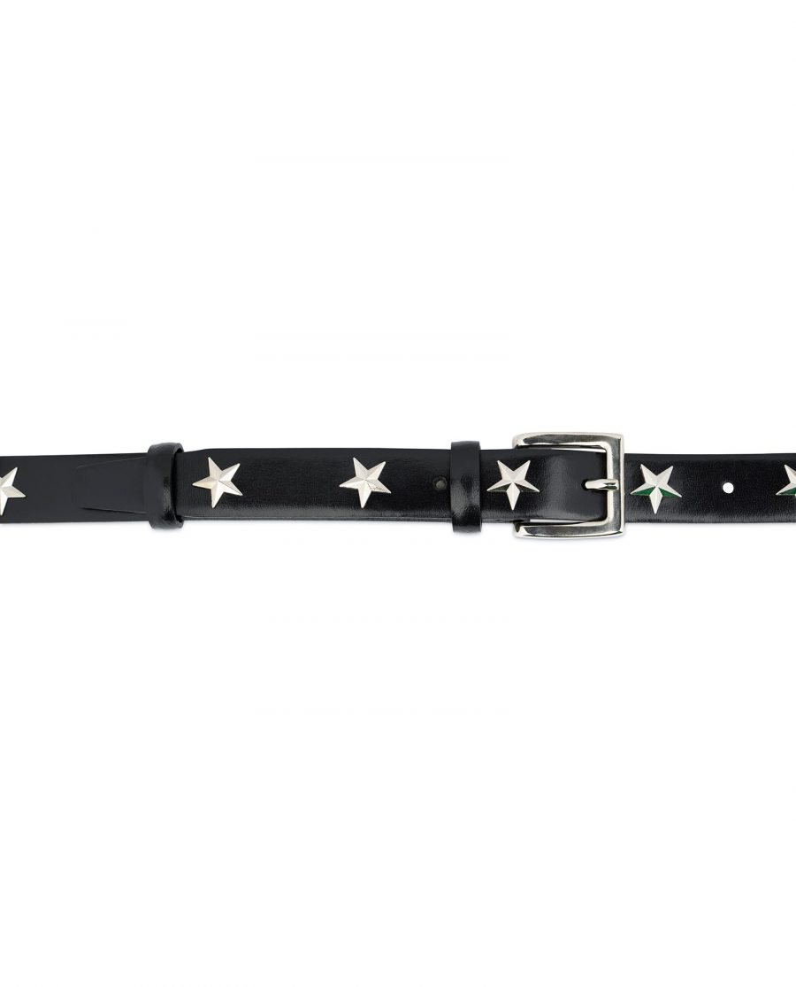 Black Studded Belt With Stars 3