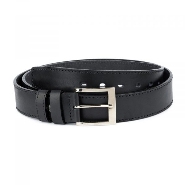 Black Thick Belt Full Grain Leather 40 Mm 1