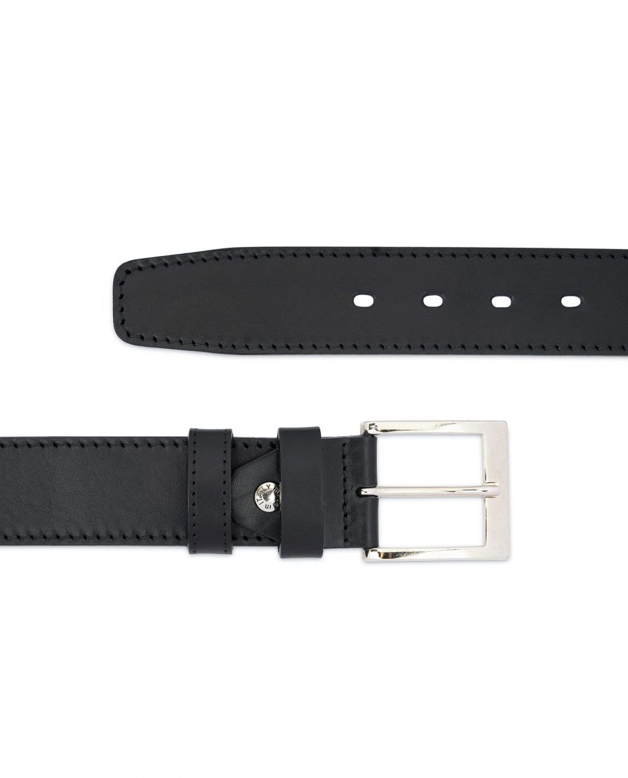 Black Thick Belt Full Grain Leather 40 Mm 2
