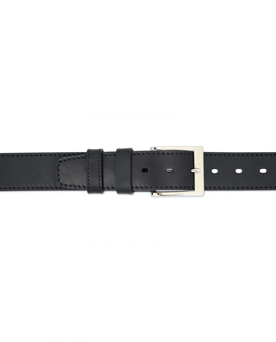 Black Thick Belt Full Grain Leather 40 Mm 3