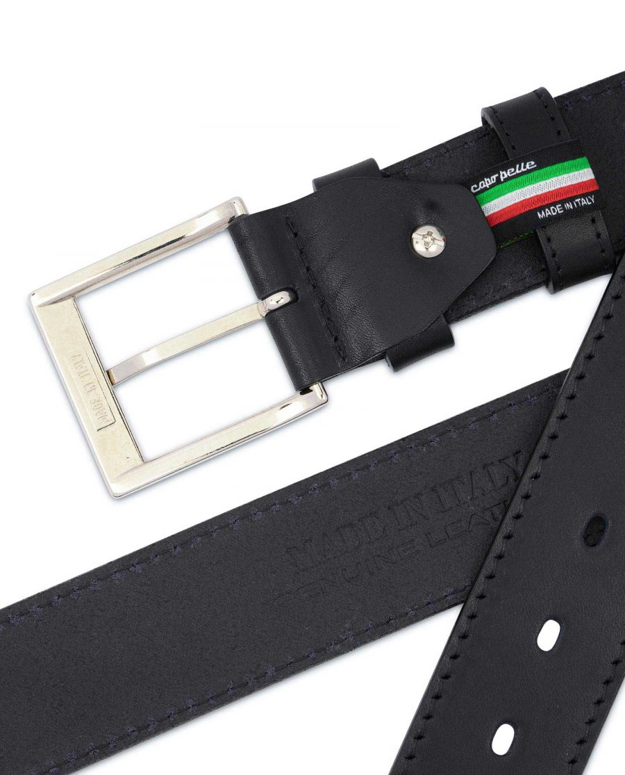 Black Thick Belt Full Grain Leather 40 Mm 4