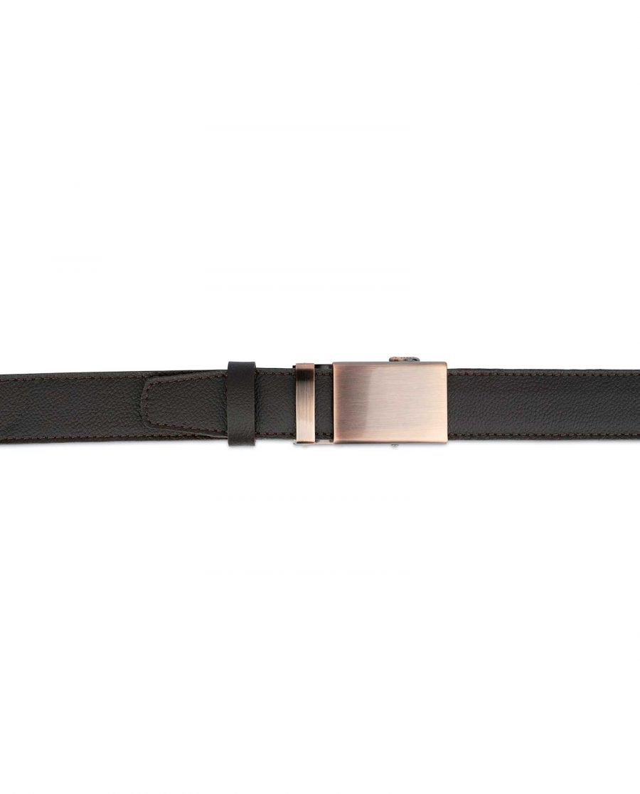 Brown Mens Click Belt With Copper Buckle 3