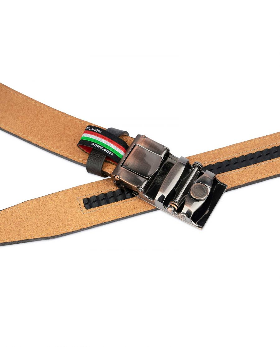 Brown Mens Click Belt With Copper Buckle 4