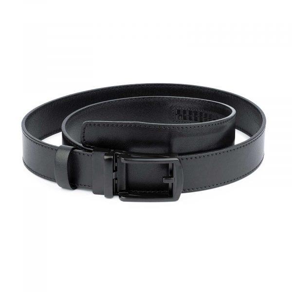 Comfort Click Leather Belt Black Buckle 1