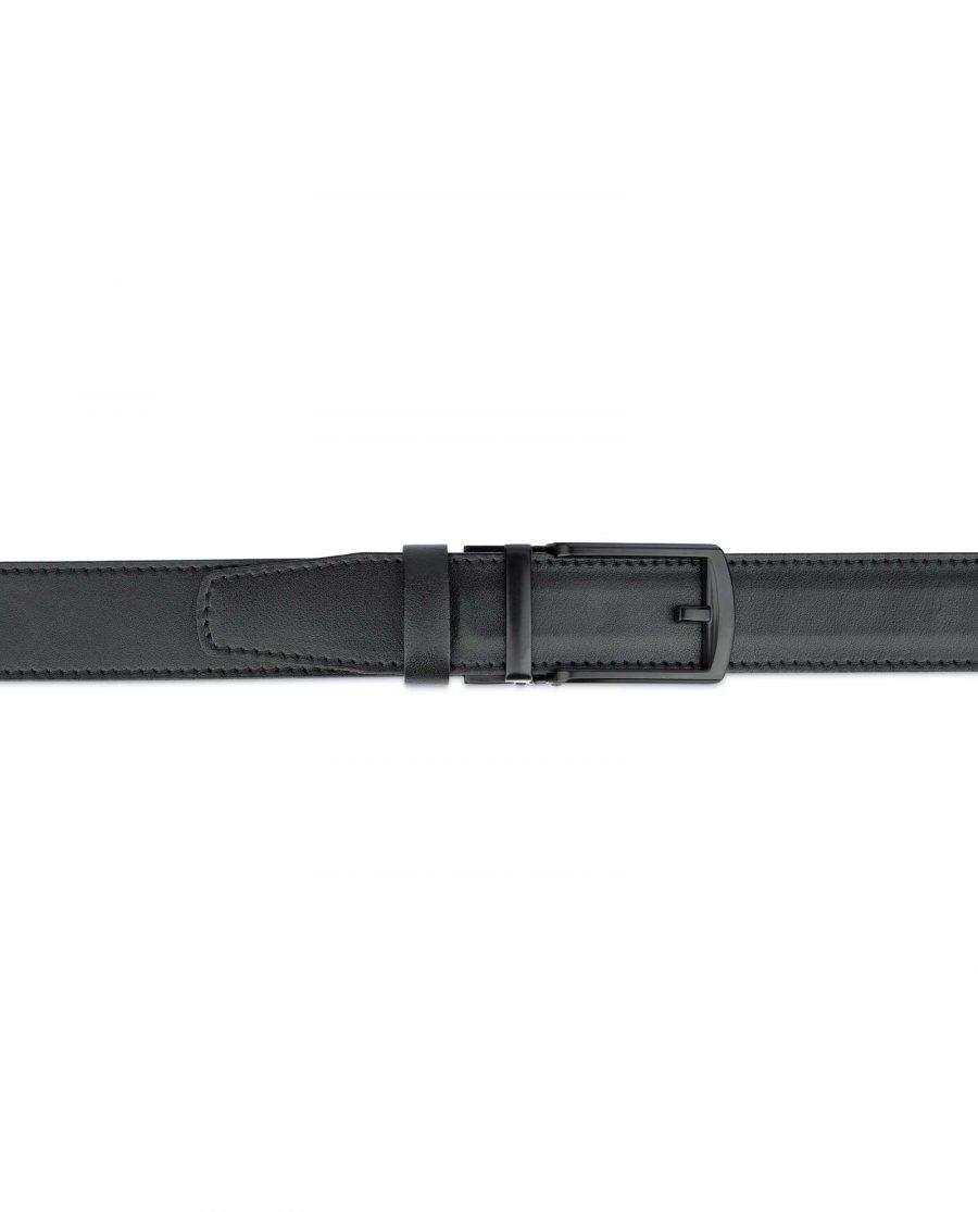Comfort Click Leather Belt Black Buckle 2