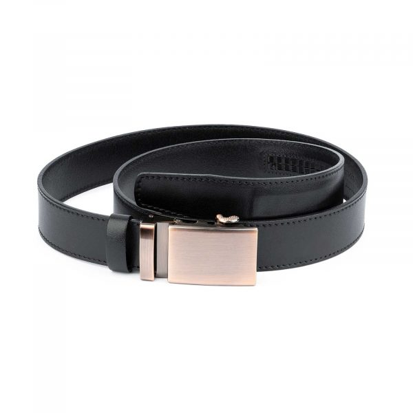 Comfort Click Leather Belt Copper Buckle 1
