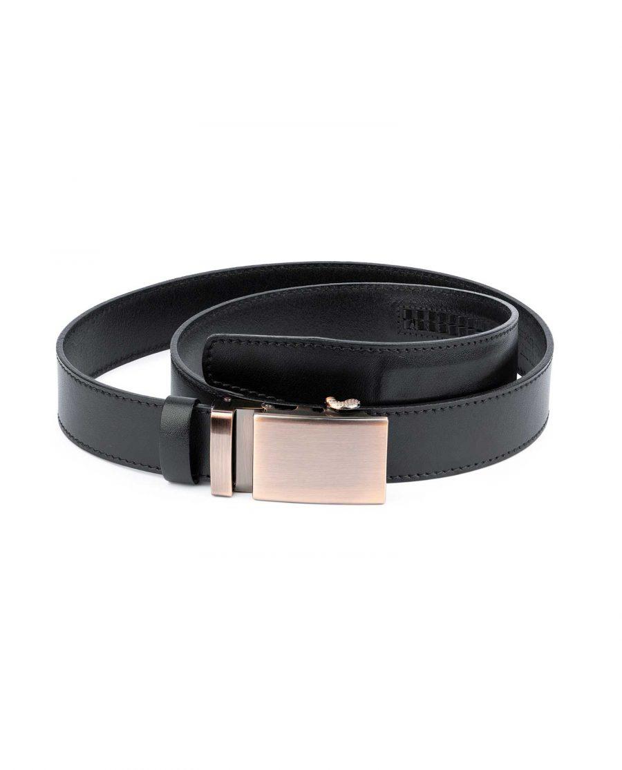 Comfort Click Leather Belt Copper Buckle 1