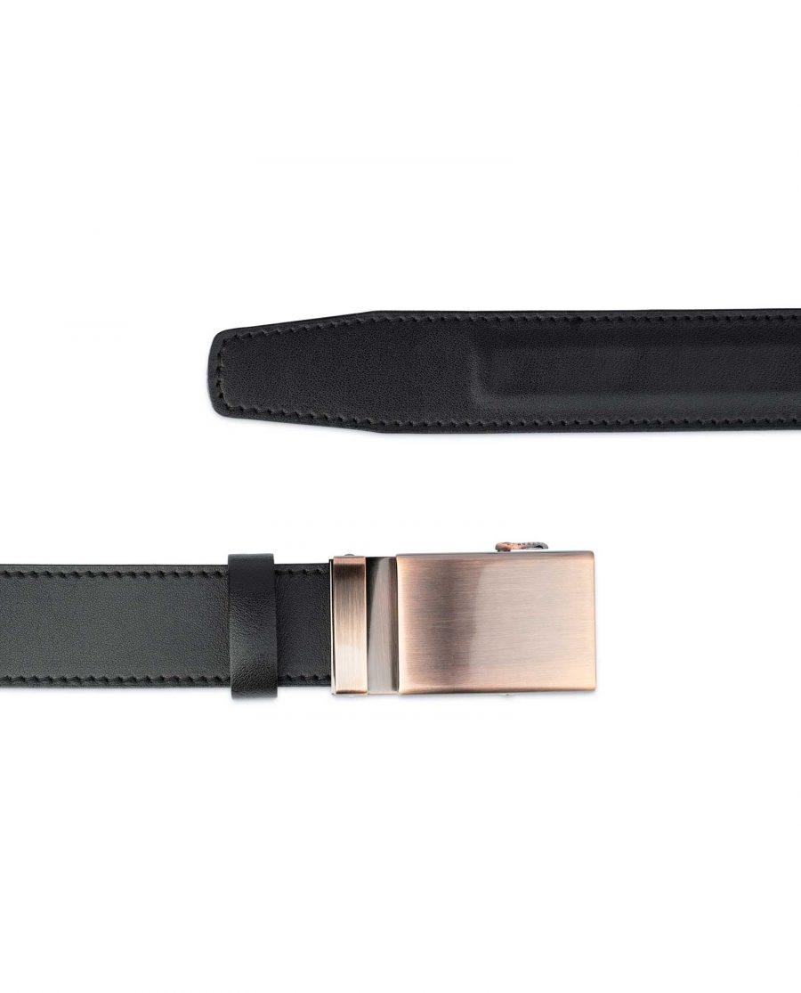 Comfort Click Leather Belt Copper Buckle 3