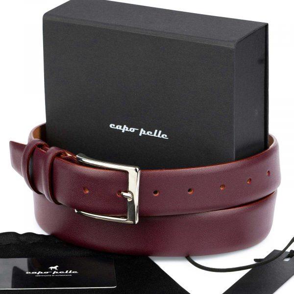 Cool Gifts For Men Burgundy Leather Belt