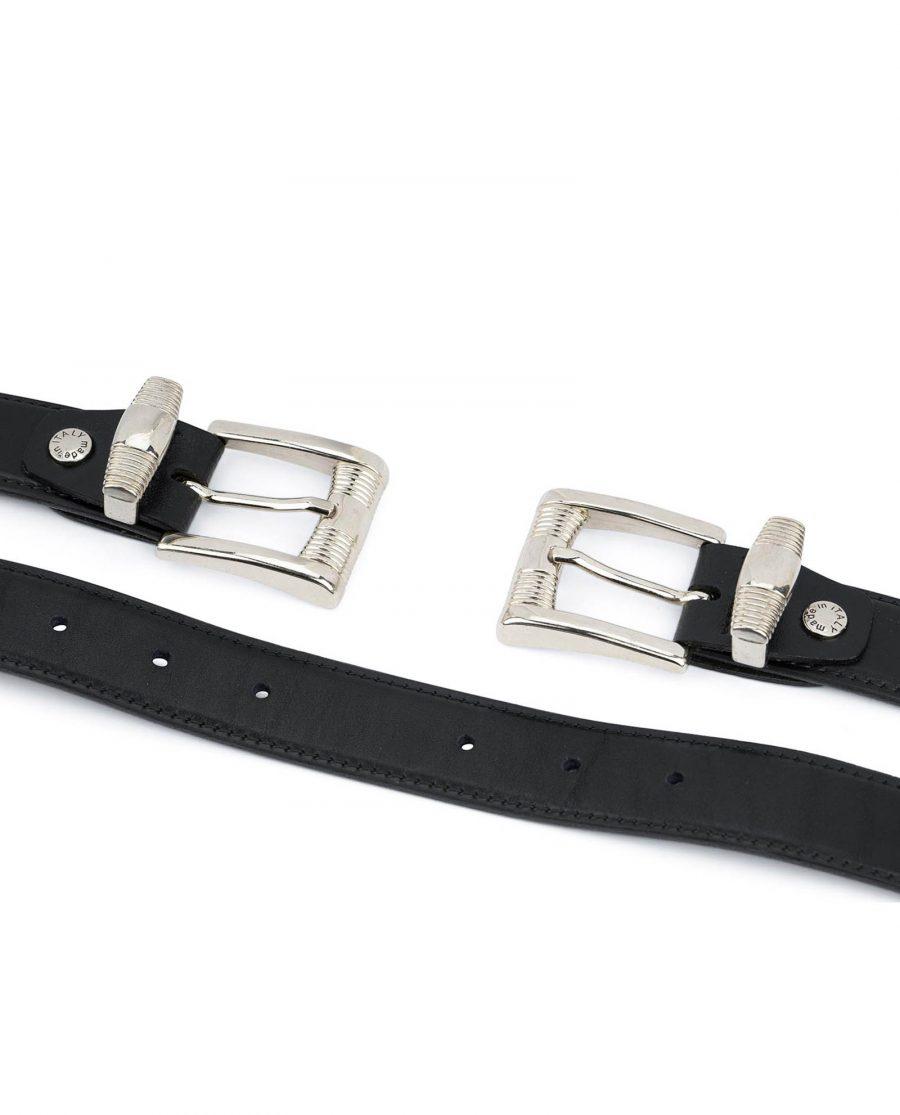 Double buckle belt Western belts for women Belt with two buckles Full grain Leather belt 8