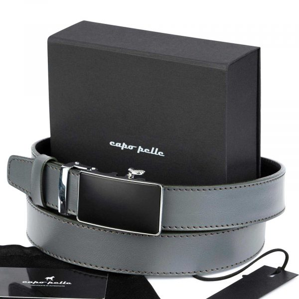 Gifts For Guys Gray Ratchet Buckle Belt