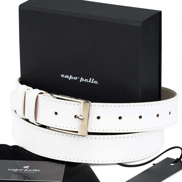 Gifts For Male Nurses White Leather Belt