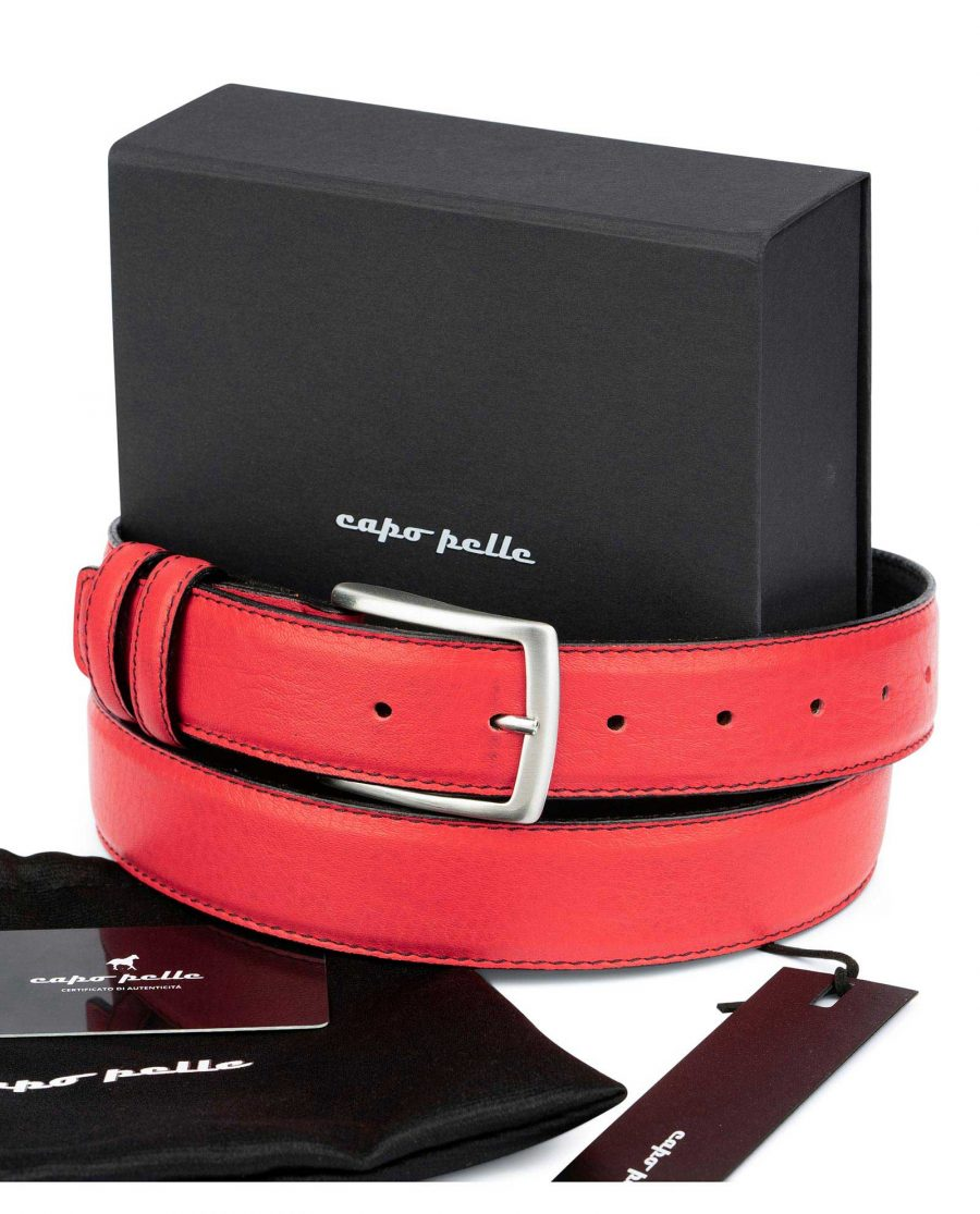 Good Presents For Boyfriends Red Leather Belt