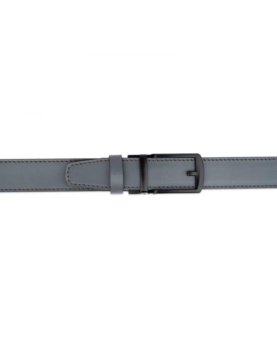 Gray Mens Comfort Click Belt Black Buckle 2