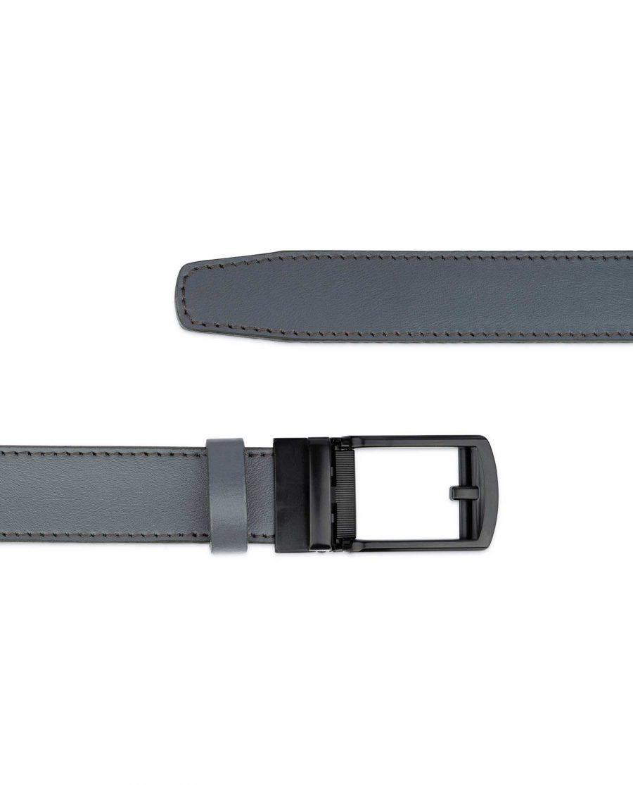 Gray Mens Comfort Click Belt Black Buckle 3