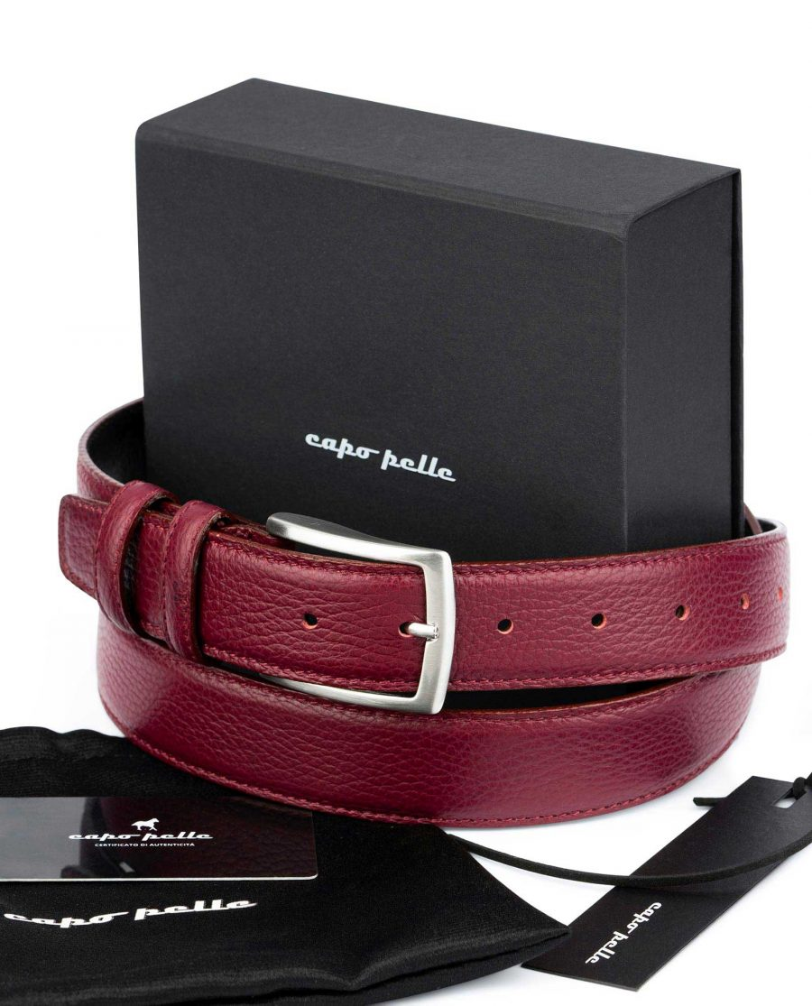 Great Gift Ideas For Men Burgundy Leather Belt