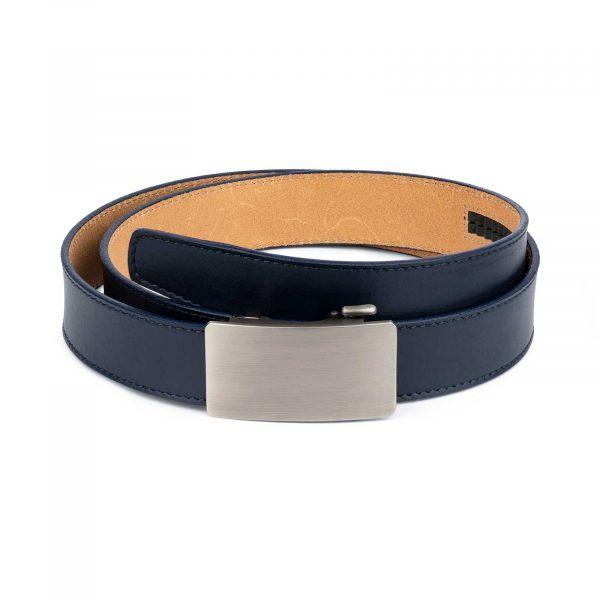 Mens Blue Comfort Click Belt Genuine Leather 1