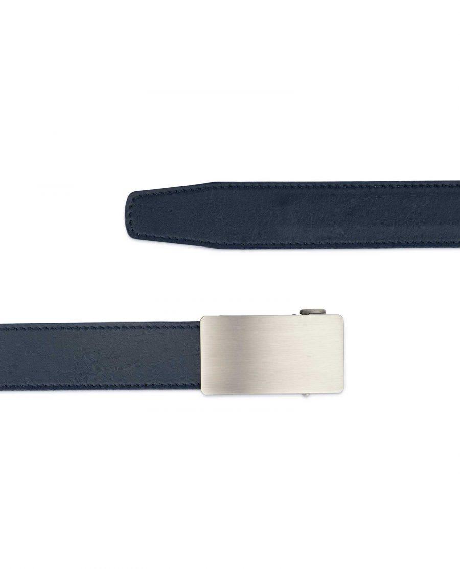 Mens Blue Comfort Click Belt Genuine Leather 2