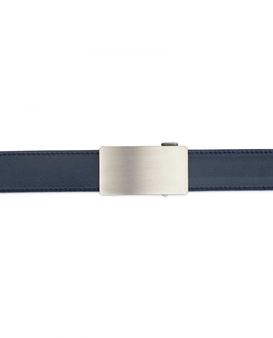 Mens Blue Comfort Click Belt Genuine Leather 3