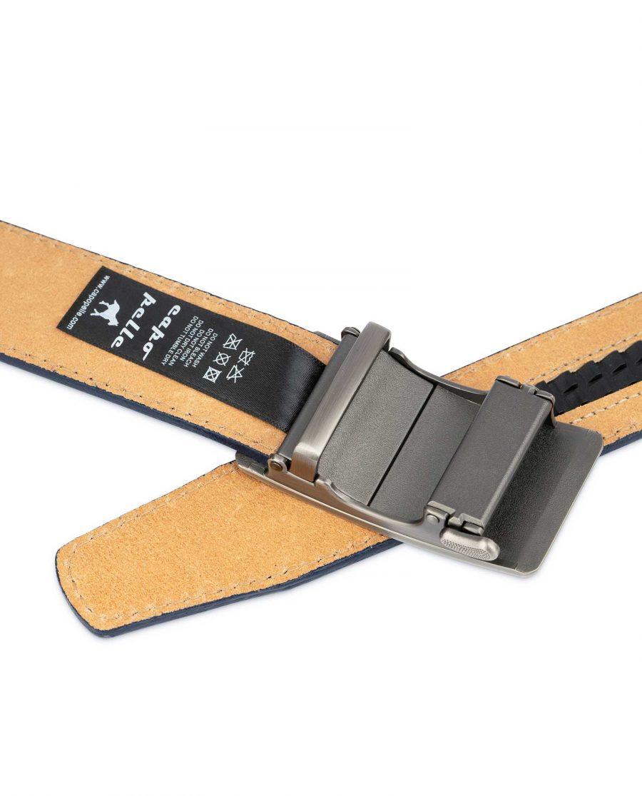 Mens Blue Comfort Click Belt Genuine Leather 4