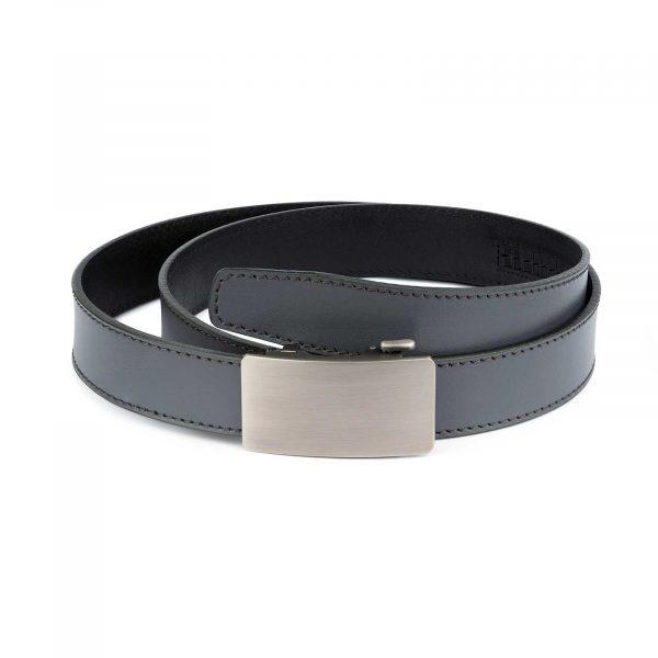 Mens Grey Comfort Click Belt 1