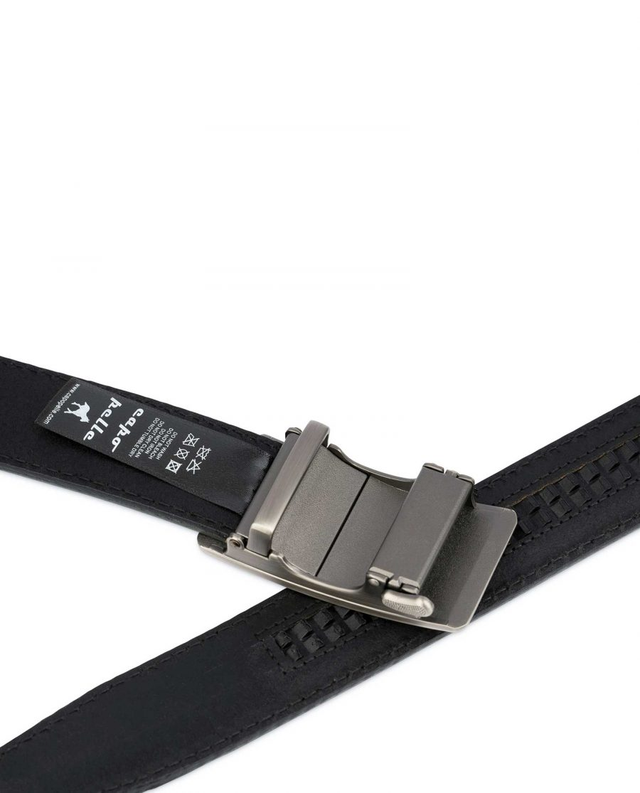 Mens Grey Comfort Click Belt 4