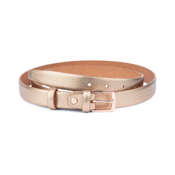 Rose Gold Belt For Women 1 Inch Wide 1