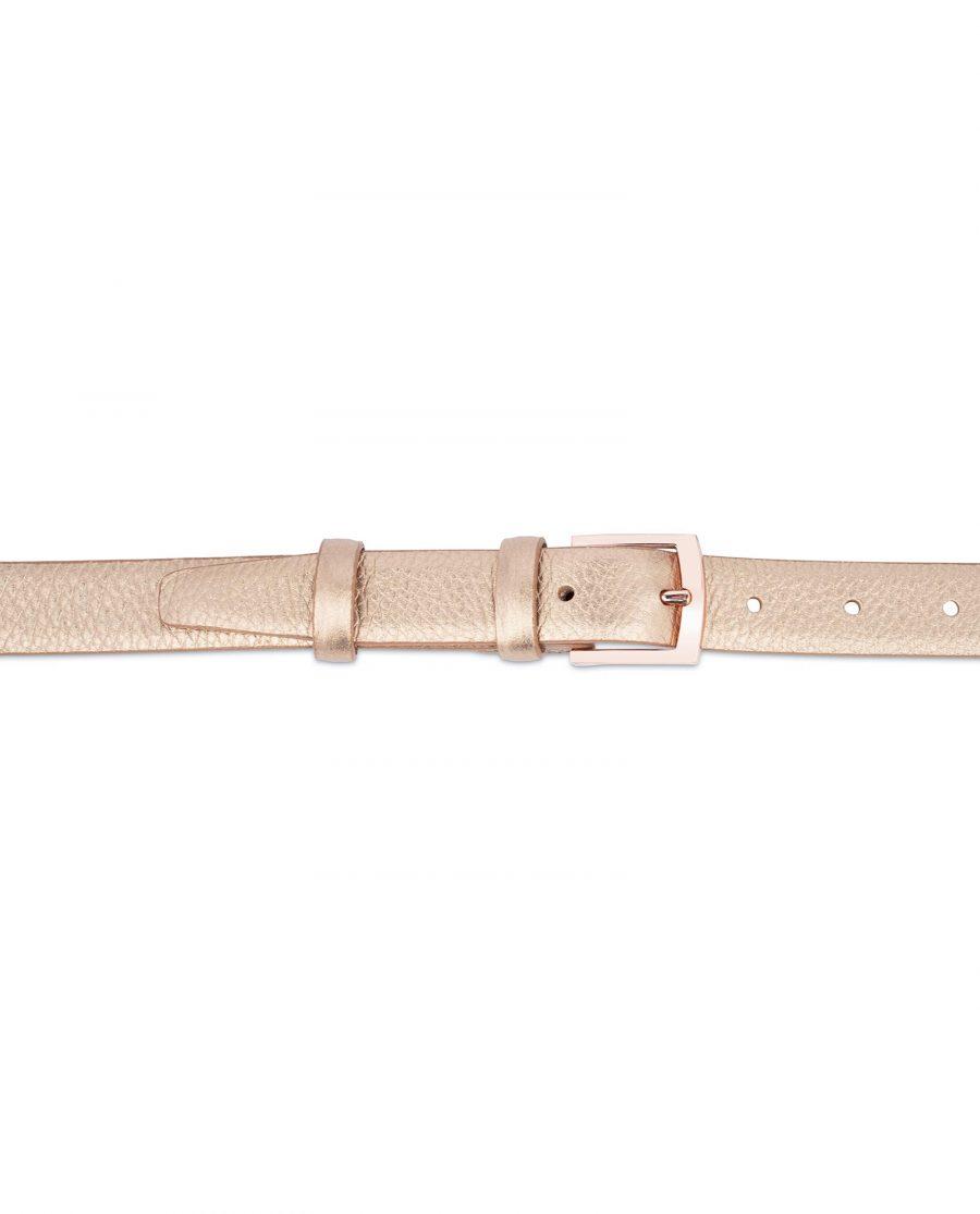Rose Gold Belt For Women 1 Inch Wide 2