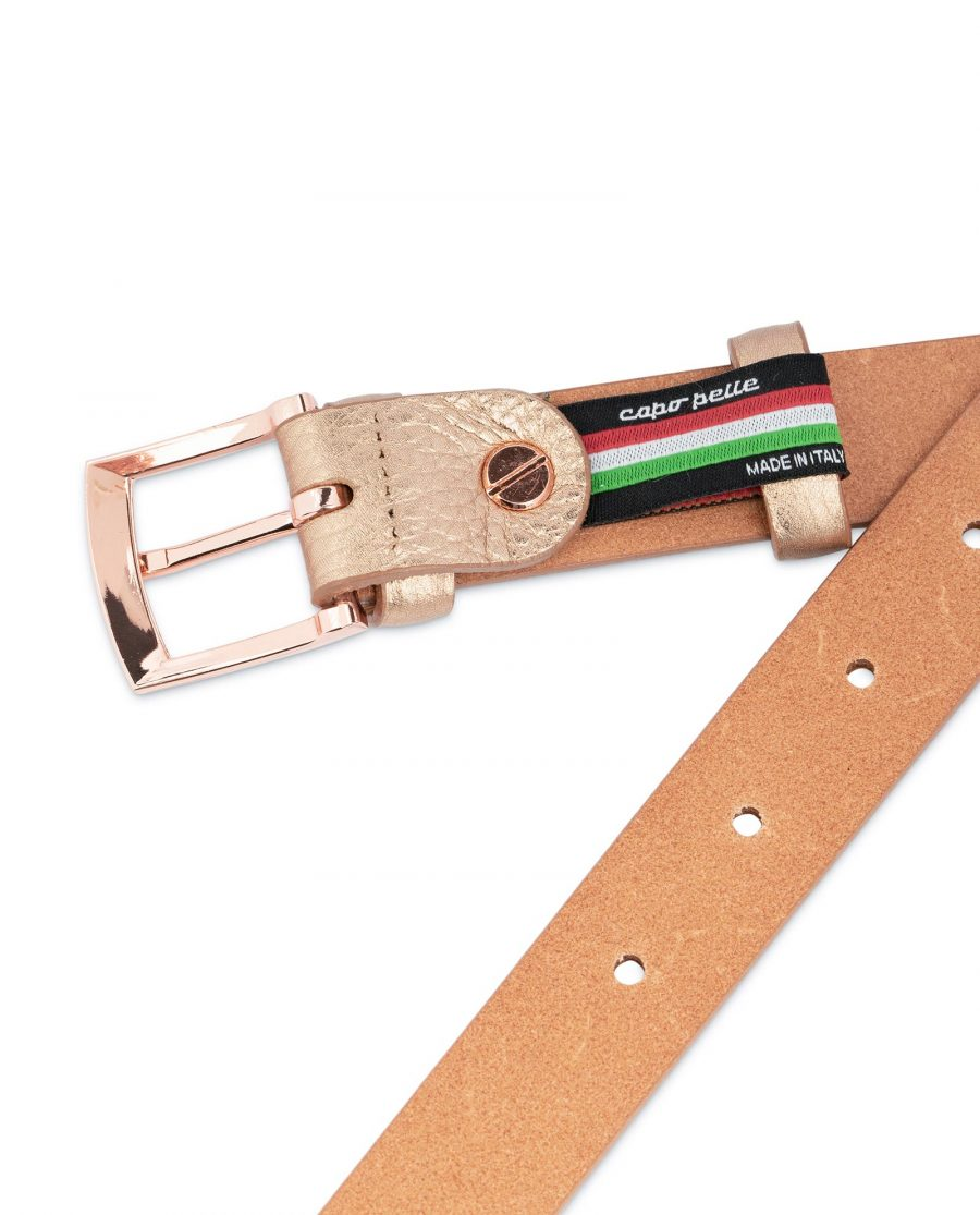 Rose Gold Belt For Women 1 Inch Wide 4
