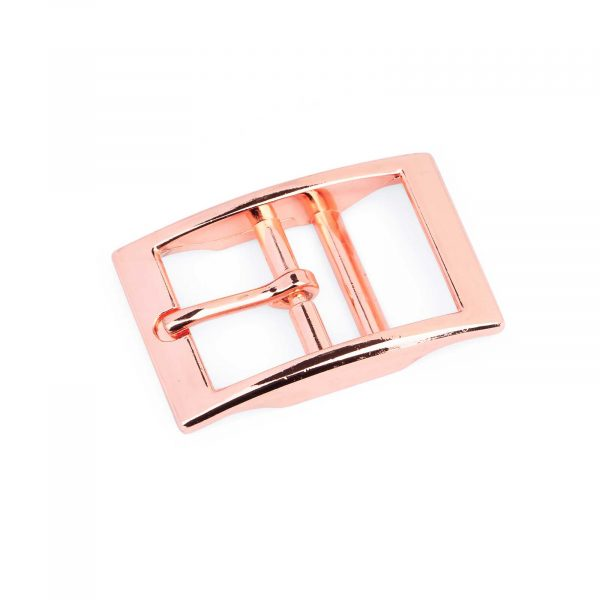 Rose Gold Center Bar Belt Buckle 25 mm 1