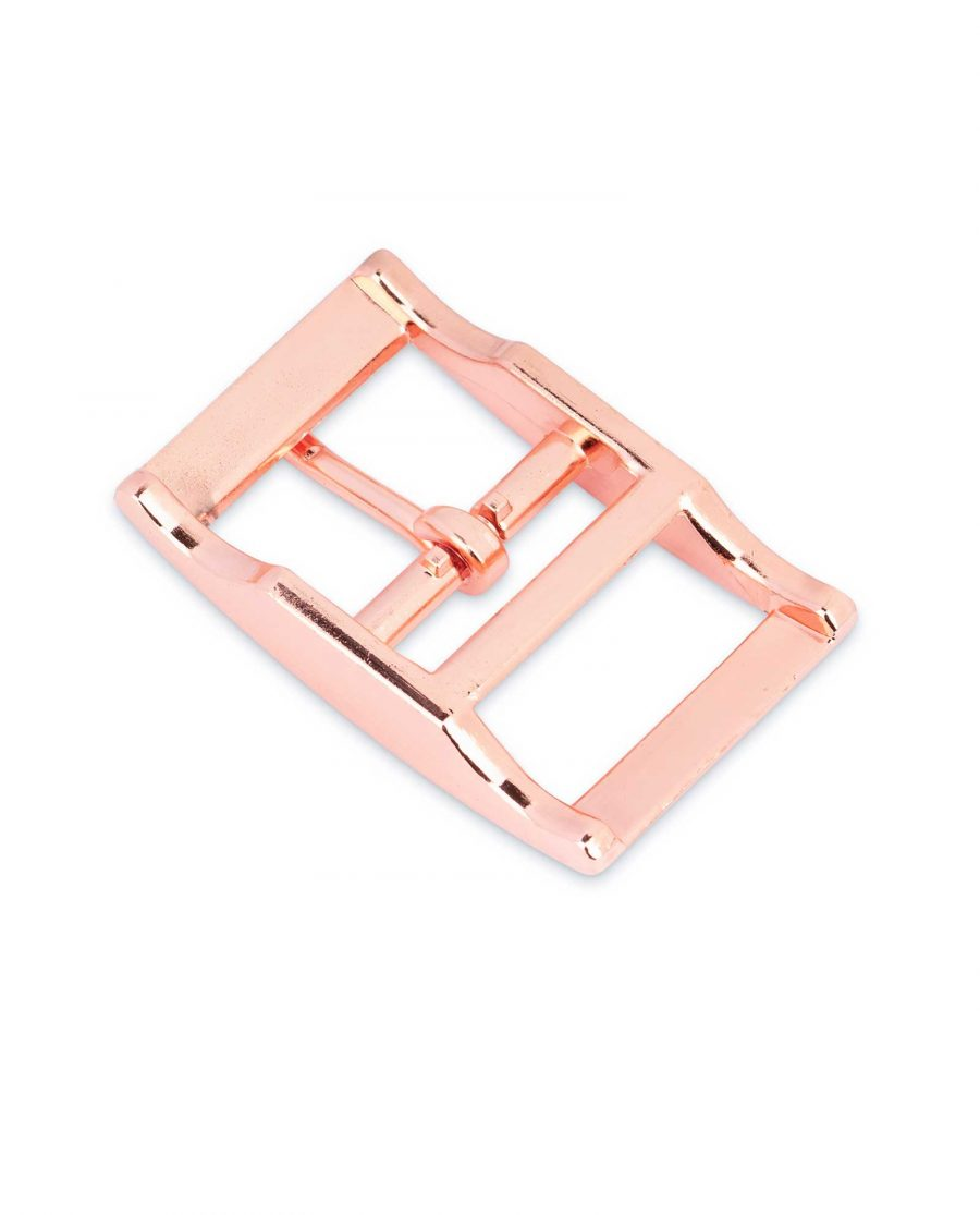 Rose Gold Center Bar Belt Buckle 25 mm 2