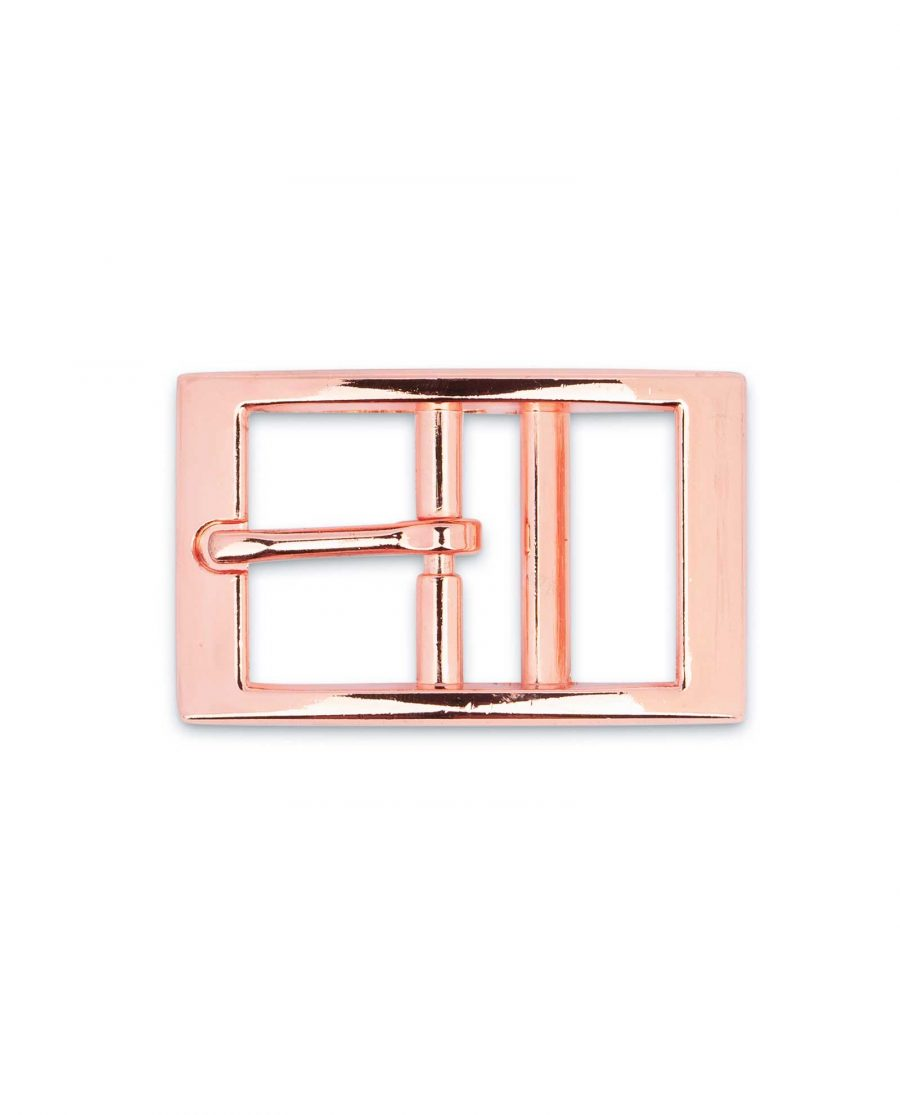 Rose Gold Center Bar Belt Buckle 25 mm 5