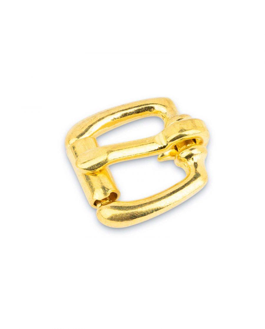 Small Brass Belt Buckle Roller 15 mm 1