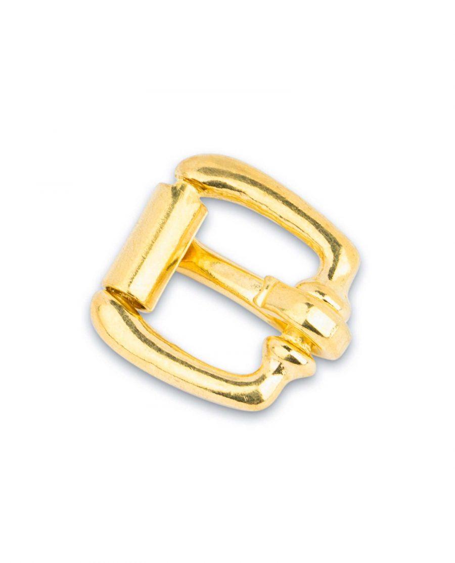 Small Brass Belt Buckle Roller 15 mm 2